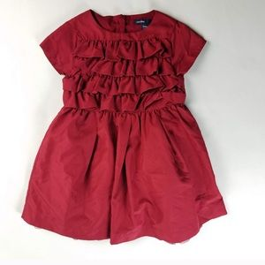 Baby Gap Size 6-12 Months Girls Red Party Dress